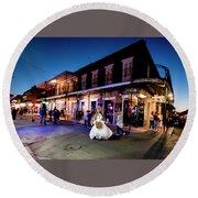 Boubon Bride - New Orleans Round Beach Towel
