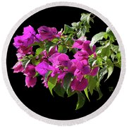 Bougainvillea Cutout Round Beach Towel