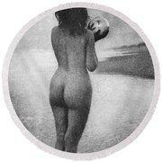 Boughton: Dawn, 1909 Round Beach Towel