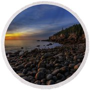 Boulder Beach Sunrise Round Beach Towel