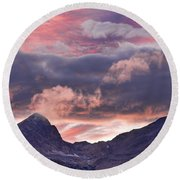 Boulder County Colorado Indian Peaks At Sunset Round Beach Towel by James BO  Insogna