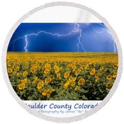 Boulder  County Colorado Round Beach Towel