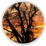 Boulder  County Sunset Round Beach Towel