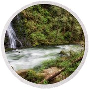 Boulder River Round Beach Towel