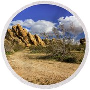 Boulders At Apple Valley Round Beach Towel