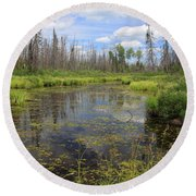 Boundary Waters Beauty Round Beach Towel