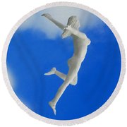 Boundless Woman Round Beach Towel