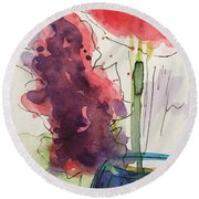 Bouquet Abstract 1 Round Beach Towel