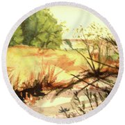 Bouquet Canyon Wash 2 Round Beach Towel