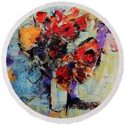 Bouquet De Couleurs Round Beach Towel
