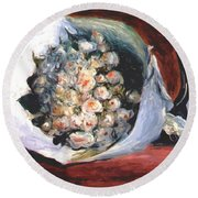 Bouquet In A Theater Box Round Beach Towel