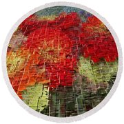 Bouquet Of Colors Round Beach Towel