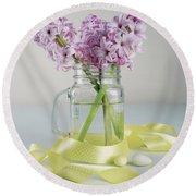 Bouquet Of Hyacinth Round Beach Towel