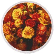 Bouquet Of Roses 1 Round Beach Towel