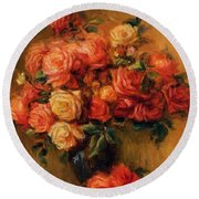 Bouquet Of Roses 1900 Round Beach Towel