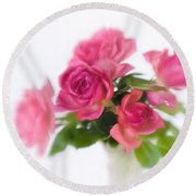 Bouquet Of Roses II Round Beach Towel