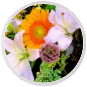 Bouquet Softly There Round Beach Towel