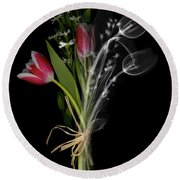 Bouquet X-ray Round Beach Towel