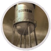Bourbon Round Beach Towel