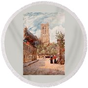 Bourges Round Beach Towel