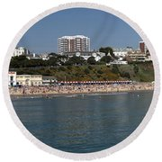 Bournemouth Beaches Round Beach Towel