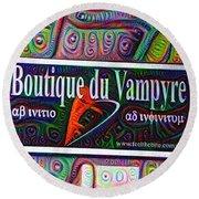 Boutique Du Vampyre -  New Orleans Round Beach Towel