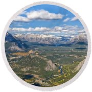 Bow River Beauty Round Beach Towel