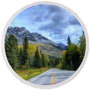 Bow Valley Parkway Banff National Park Alberta Canada Vi Round Beach Towel