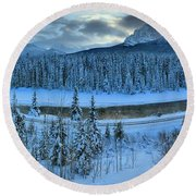 Bow Valley River Giant Panorama Round Beach Towel