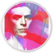 Bowie 70s Chic  Round Beach Towel