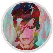 Bowie Reflection Round Beach Towel