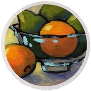 Bowl Of Fruit 4 Round Beach Towel