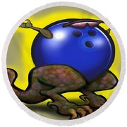 Bowling Beast Round Beach Towel