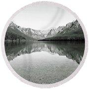 Bowman Lake - Glacier National Park 2 Round Beach Towel