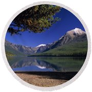 Bowman Lake Round Beach Towel