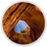 Bowtie Arch Near Arches National Park - Utah Round Beach Towel