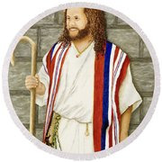 Boy David Round Beach Towel