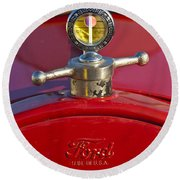 Boyce Motometer Hood Ornament Round Beach Towel
