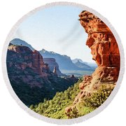 Boynton Canyon 04-321 Round Beach Towel