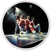 Boyz II Men Round Beach Towel