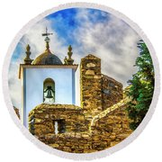 Braganca Bell Tower Round Beach Towel