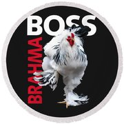 Brahma Boss II T-shirt Print Round Beach Towel