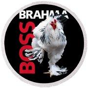 Brahma Boss T-shirt Print Round Beach Towel