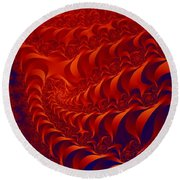 Braided Red Round Beach Towel