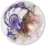 Brain Damage Round Beach Towel
