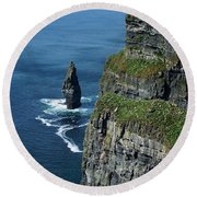 Brananmore Cliffs Of Moher Ireland Round Beach Towel