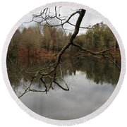Branch And Water Round Beach Towel