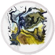 Branching Out I Pf Round Beach Towel