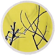 Branching Out Snowscape 3 Round Beach Towel