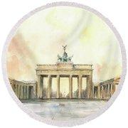 Brandenburger Tor, Berlin Round Beach Towel